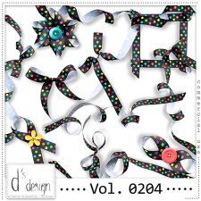 Vol. 0204 Dots Ribbons Mix by Doudou Design