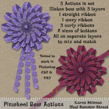 Pinwheel Bow Actions by Karen Stimson