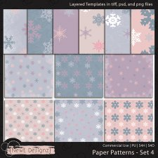 EXCLUSIVE Layered Paper Patterns Templates Set 4 by NewE Designz