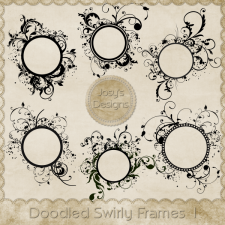 Doodled Swirly Frames 1 by Josy