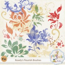Rosely's Fleurish Brushes CU4CU by PapierStudio