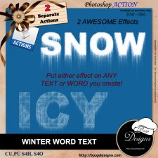 Winter Word Text ACTION by Boop Designs