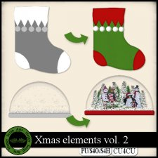 Christmas vol. 2 templates CU4CU by Happy Scrap Art