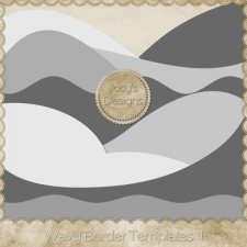 Wavy Border Layered Templates 1 by Josy