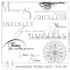Memories Word Arts Vol 02 by D's Design