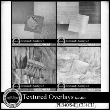 Textured Overlays bundle 1 CU4CU by Happy Scrap Art