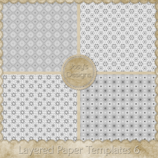 Layered Paper Templates 06 by Josy