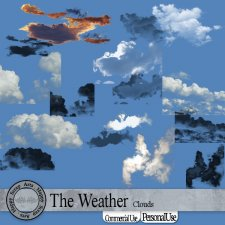 The Weather Clouds Overlays and Brushes by Happy Scrap Art