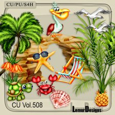 CU Vol 508 Summer Beach Animals by Lemur Designs