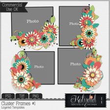 Cluster Frames Layered Templates Pack No 1