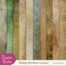 Shabby Rainbow Overlays by PapierStudio Silke