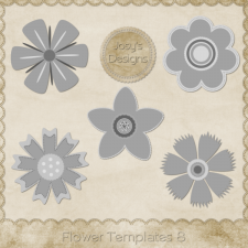Flower Layered Templates 8 by Josy