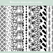 Seamless pattern overlays, paper templates
