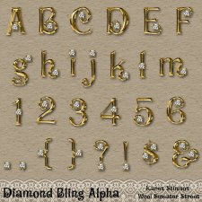 Diamond Bling Alpha by Karen Stimson