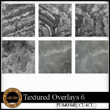 EXCLUSIVE Textured Overlays 6 CU4CU by Happy Scrap Art