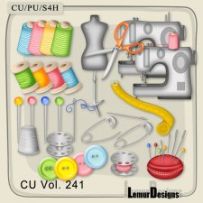 CU Vol 241 Sewing Elements by Lemur Designs