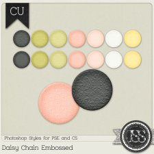 Daisy Chain Embossed PS Styles by Just So Scrappy