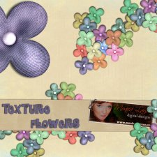 Texture Flower action by Monica Larsen