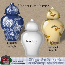 Ginger Jar Template by Karen Stimson