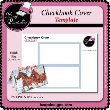 Checkbook Cover TEMPLATE by Boop Printable Designs