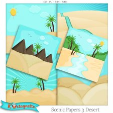 Scenic Papers 3 Desert by Kastagnette