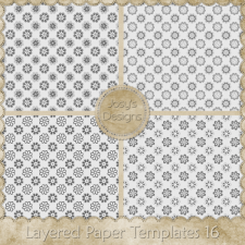 Layered Paper Templates 16 by Josy