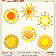 Sunny Sunshine Layered Templates