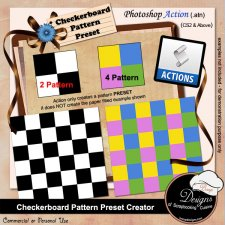 Checkerboard Pattern Preset Creator ACTION by Boop Designs