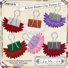 Binder Clip Flower 01 Action by Cida Merola