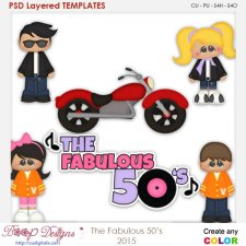 The Fabulous 50's Layered Element Templates