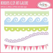 Borders clip art galore pennant banner clip art Lilmade Designs
