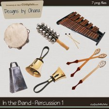 Band Music - Percussion 1 - EXCLUSIVE Designs by Ohana