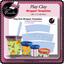 Play Clay Can Wrapper TEMPLATE by Boop Printable Designs
