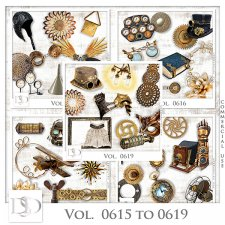 Vol. 0615 to 0619 Steampunk Mix by D's Design