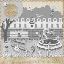 Whimsical Garden Layered Templates by Josy