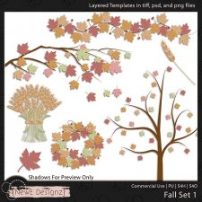EXCLUSIVE Layered Fall Templates Set 1 by NewE Designz