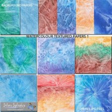 EXCLUSIVE Watercolour Textured papers by Silver Splashes