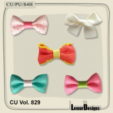 CU Vol 829 Bows by Lemur Designs