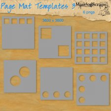 Page Mat Templates 3 by Mandog Scraps