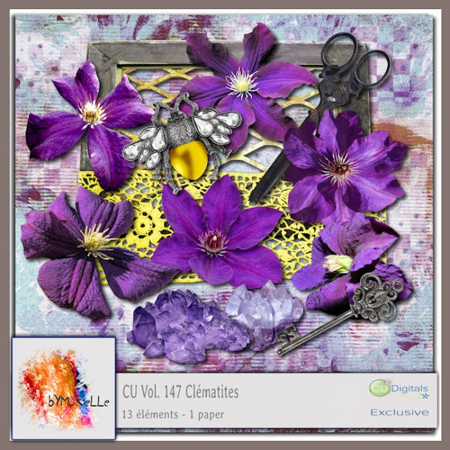 Vol 147 Clematis Flower EXCLUSIVE bymurielle