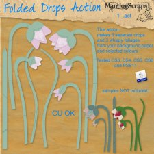 Folded Drop Flower Action by Mandog Scraps