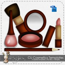 Cosmetics Layered Template by Peek a Boo Designs