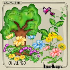 CU Vol 460 Foliage Flowers by Lemur Designs