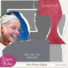 Torn Photo Edges by PapierStudio Silke
