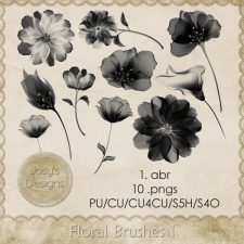 Floral Brushes 1 by Josy