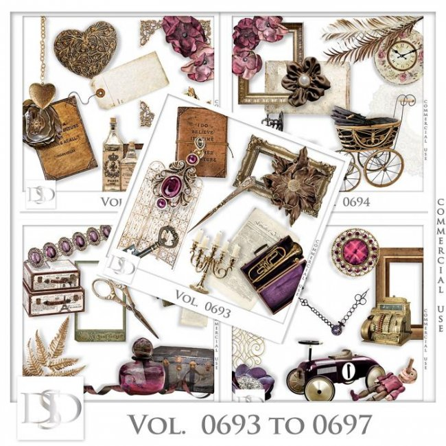 Vol. 0693 to 0697 Vintage Mix by D's Design
