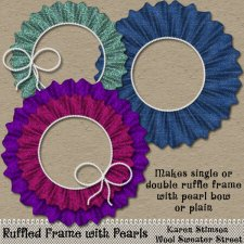 Ruffle Frame &Pearls Action by Karen Stimson