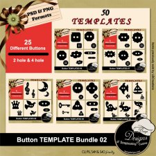 Button TEMPLATE BUNDLE 02 by Boop Design