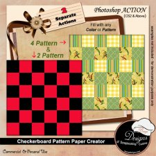 Checkerboard Paper Creator ACTION by Boop Designs