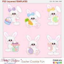 Easter Cookie Fun Layered Element Templates